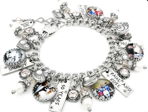 Keepsake Designer Jewelry, Personalized Memorial Charm Bracelet, Custom Charm Bracelet, Memorial Bracelet, Memory Jewelry, Legacy Bracelet