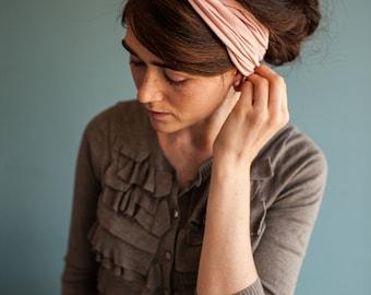 Twist stretch headband in Rose- New Garlands of Grace hair head band headwrap