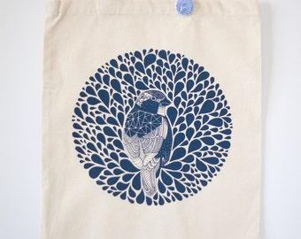 bird tote bag, put a bird on it, bird art