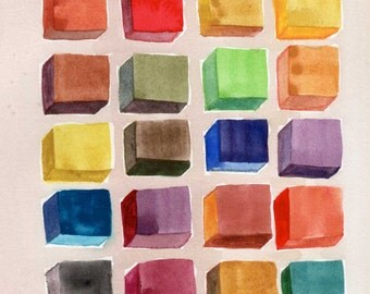 Colorful Keypad original watercolor