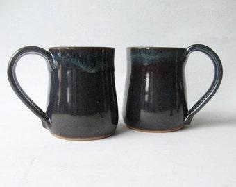 Pottery Mugs 14 oz. Set of 2