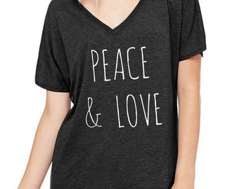 Today is Magical Oversized Slouchy V Neck Tee Loose tshirt shirt