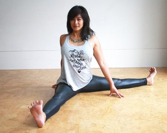 """Yoga Tank - Tolkien Quote - """"Not all those who wander are lost"""" MADE TO ORDER"""
