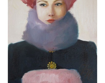 Pink Amethyst. Art Print.