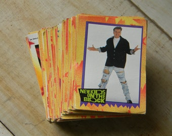 New Kids on the Block trading cards and stickers