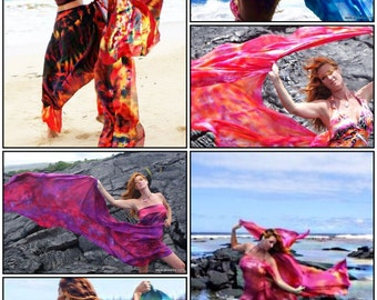 Belly dance costume 20 silk veils assorted lots blended colors only please convo first