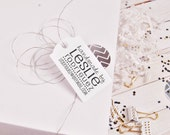 Handmade by rubber stamp for the back of handmade cards
