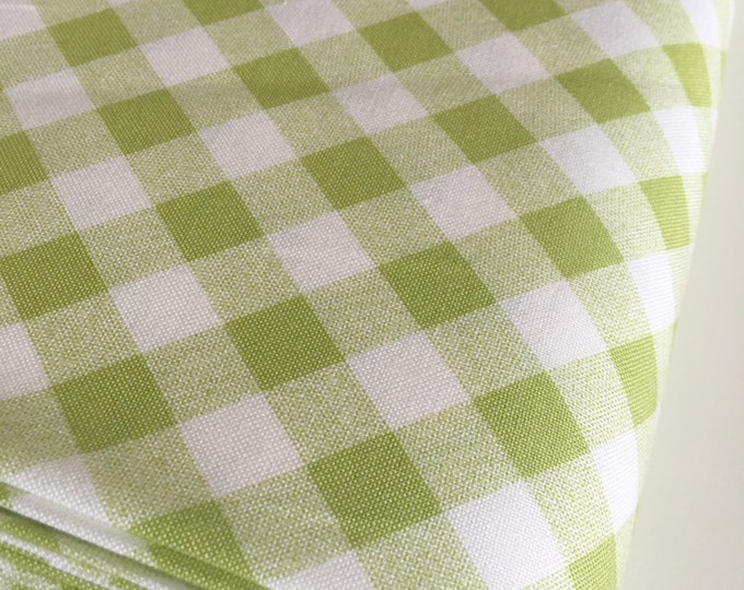 Vintage Picnic fabric, Gingham in Light Green by Bonnie and Camille, Green fabric, Plaid fabric, Fabric by the Yard, Choose the cut