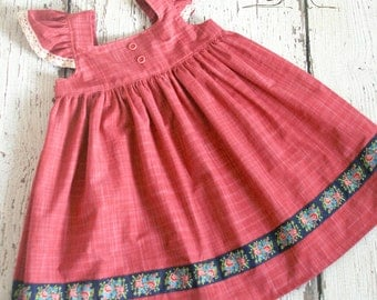 Chambray and Roses Tilly dress   RTS Ready to Ship size 4 ON SALE