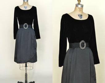 1960s Holiday Dress --- Vintage Black Cocktail Dress