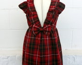 RESERVED for KATIE plaid holiday dress for toddler and girl