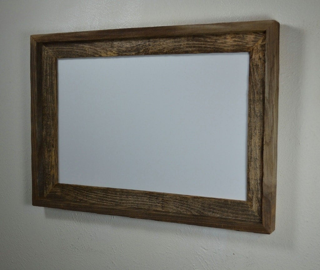 11x17 Poster Frame From Reclaimed Wood With A Beautiful Patina