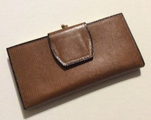 Vintage New Ladies' Brown Amity Buffalo Calfskin Wallet or Billfold
