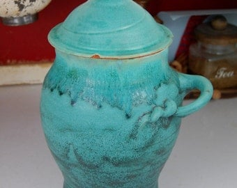 Large Kitchen Canister in Turquoise - Made to Order
