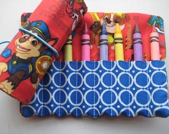 Crayon Roll Wallet PAW Patrol Includes 8 Crayons