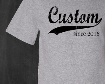 Custom mens tshirt, customized t-shirt, personalized tee for men, father's day for men, birthday gift for him, custom graphic t shirt