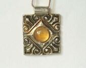 Moonstone Fine Silver Pendant Necklace