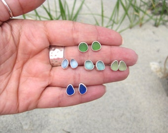 Sea Glass Post Earrings| Beach Glass Earrings | Sea Glass Jewelry | Beach Glass Jewelry