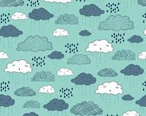Greatest Adventure Clouds Aqua - 1/2 Yard
