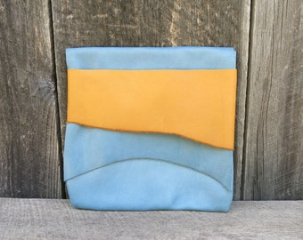 Sky Blue Light Traveler Eco Leather Clutch