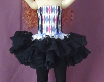 BJD Ballet outfit for Dollstown 7 MSD, Kaye Wiggs msd, Planetdoll MSD, and others