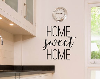 Home Sweet Home Wall Decor Vinyl Decals Home Decals Home Vinyl Decals Kitchen