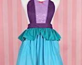 Ariel apron little Mermaid Ariel princess APRON  Princess dress up style  womens full Apron Ariel costume aprons