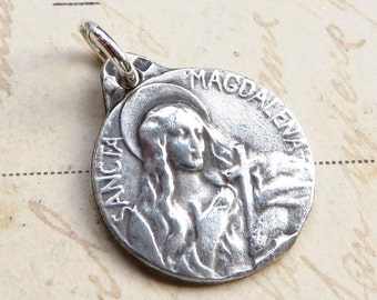 Mary Magdalene Medal - Patron of repentant sinners - Antique Reproduction