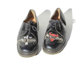 Size 11 Men's Good & Evil Goth Oxford Shoes