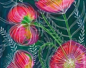 Always Flowers Archival Art print floral illustration