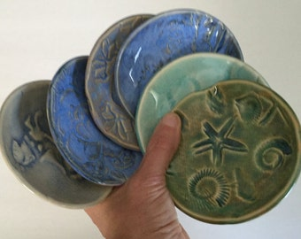 Ceramic Grab bag dish wholesale priced package, mixed colors and designs 12 dishes