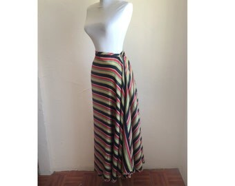 1930s Senorita Cascading Stripes Skirt