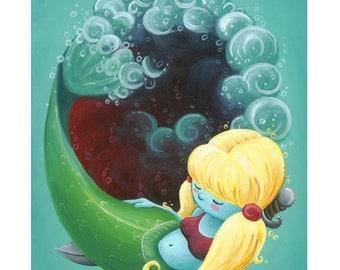 LITTLE MERMAID - 8x10 Art Print by Geri Shields