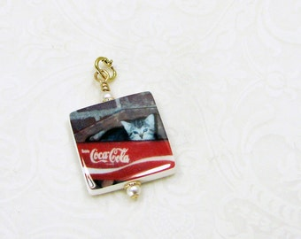 A Quality Photo Pendant with a 14K Gold Locking Jump Ring  - Small