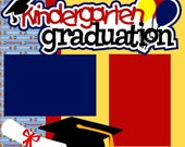 Kindergarten Graduation 2-Page 12X12 Premade Scrapbook Pages or Kit