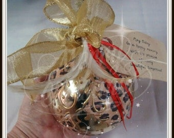 Hand Embellished Christmas Bulb