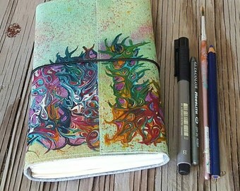 Express Yourself Journal a creative expression art journal - gift for wanderlust artist
