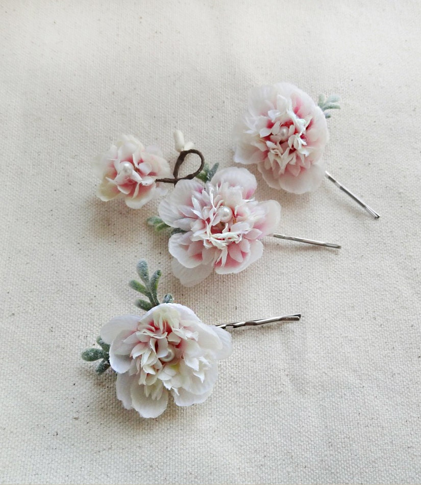 Flower Hair Pins For Wedding: Bridal Hair Hair Pins Flower Hair Pins Bridal Headpiece