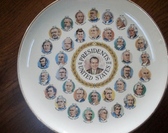 Collection of 6 Presidential plates