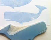 Whale rubber stamp, hand carved rubber stamp, ocean stamp, nature stamp