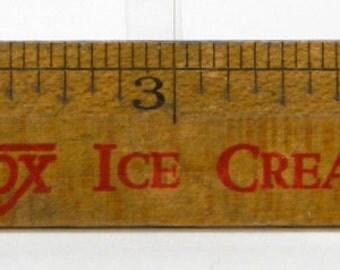 Hydrox Ice Cream Advertising Ruler Vintage 6' Wood Health Rule Universal Food 14831