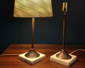 Sale - Simple Brass And Marble Lamps