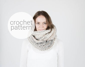 Pattern / Ozetta Infinity Scarf Crochet Pattern Instant Download For The Kobuk