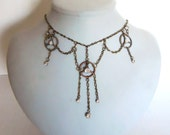 Cogs and Gears Necklace fit for a Steampunk Empress