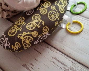 Organic Tummy Time Pillow, Bicycles