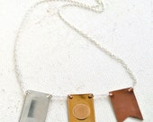 Signals Nautical Flag Necklace - custom nautical flag necklace, custom name necklace, semaphore necklace, nautical code jewelry, NS01