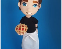 Pushing Daisies - Ned The Piemaker Inspired Poseable Plush Doll