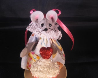 Mouse with a Giant Cupcake