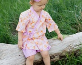 Summer Outfits - Girls Kimono - Girls Outfit - Jinbei - Toddler Girl - Toddler Outfit - sizes 2T 3T 4T 5 6 7 8 10 years