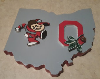 3D Ohio State Buckeyes Sign.